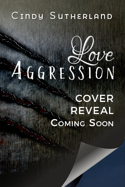 Cover Reveal Art: The title of Love Aggression set for the cover, over a metal background that seems to have been clawed. Text below the title reads: Cover Reveal Coming Soon